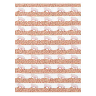 Porco bonito na arte engraçada do animal do toalha de mesa