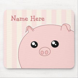 Porco cor-de-rosa carnudo bonito de Kawaii Mouse Pads