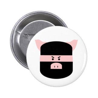 Porco de Ninja! Bóton Redondo 5.08cm