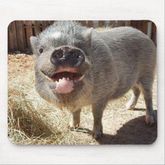 Porco de sorriso Mousepad