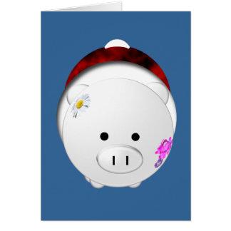 Porco do feriado cartão comemorativo