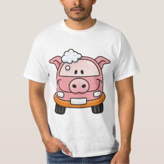 Porco do lavagem de carros t-shirts