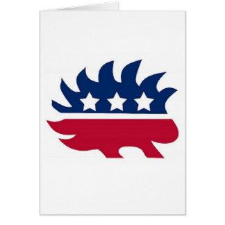Porco- do libertário cartão comemorativo