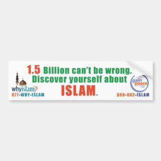 porque-Islão-pára-choque Adesivo Para Carro