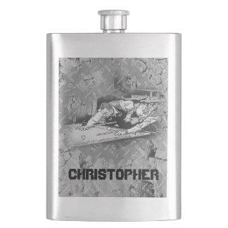 Porta Bebida Seu nome nesta garrafa retro dos jogadores da