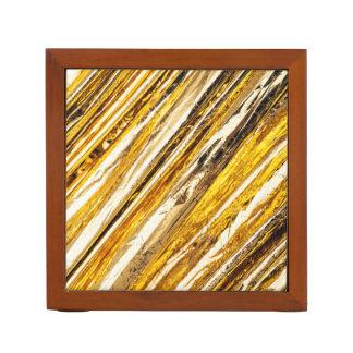 Porta-caneta Folha de ouro cintilante de Falln