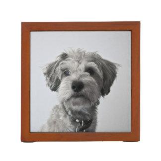 Porta-caneta Foto do retrato do filhote de cachorro do