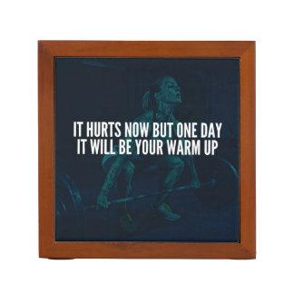 Porta-caneta Motivação do exercício das mulheres - os danos