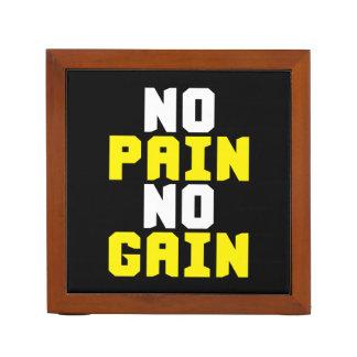 Porta-caneta Nenhuma dor, nenhum ganho - exercício do Gym