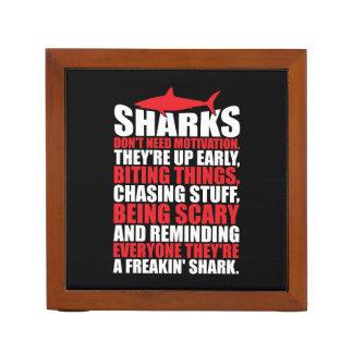 Porta Caneta Palavras inspiradores - seja um tubarão