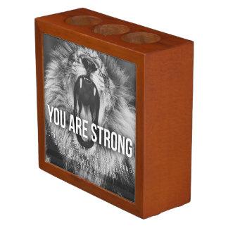 Porta-caneta Palavras inspiradores - você é forte