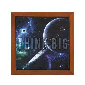 Porta Caneta PENSE GRANDE - espaço e universo inspiradores