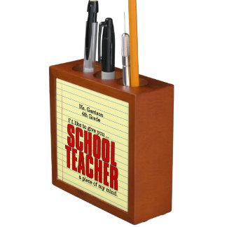 Porta-caneta Presente engraçado para a mesa do professor