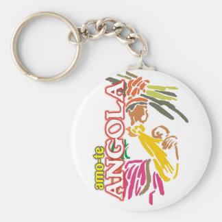 Porta-chaves - Amo-te Angola - Branco Chaveiro