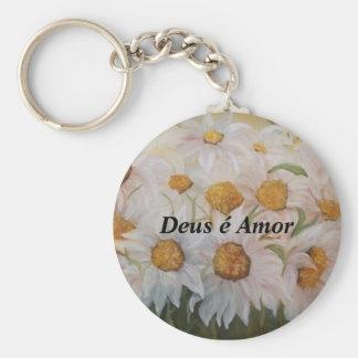 Porta-chaves de Amor do é de Deus Chaveiro