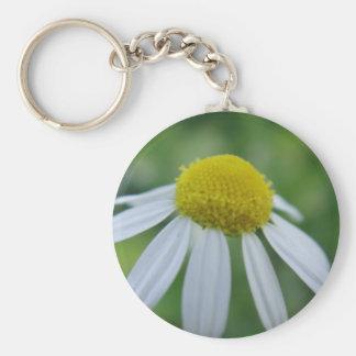 Porta-chaves flor de camomila chaveiros