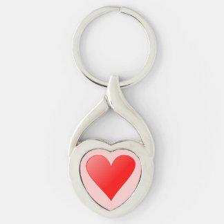 Porta-chaves forma de coração com coração