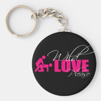 "Porta-chaves / Key ring 5 cm - "" wild love please Chaveiro"