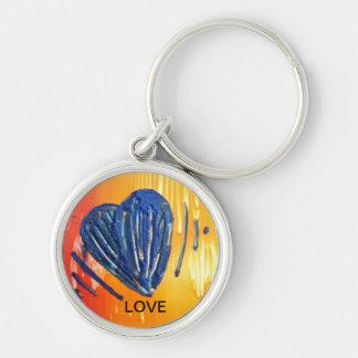 Porta-chaves LOVE com coração Chaveiro