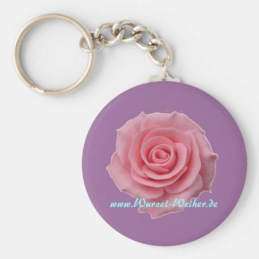 Porta-chaves rosa chaveiro
