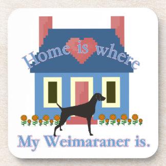 Porta-copo A casa é Weimaraner