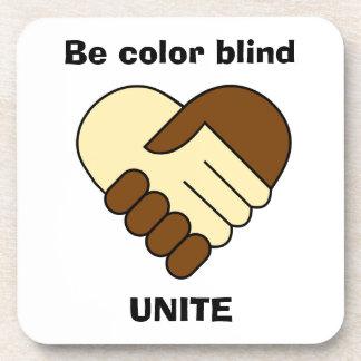 Porta-copo Anti tema do racismo