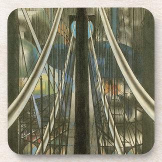 Porta-copo Arquitetura de New York do vintage, ponte de