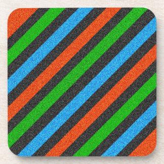 Porta-copo Brilho alaranjado, azul, verde, preto STaylor