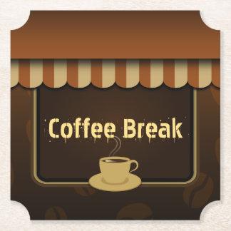 Porta-copo De Papel Grupo legal do café da cafetaria de Brown de 6