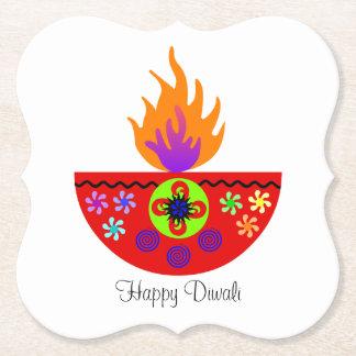 Porta-copo De Papel Lâmpada colorida Diya de Diwali