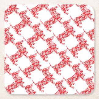Porta-copo De Papel Quadrado Aloha-Doxie-Vermelho