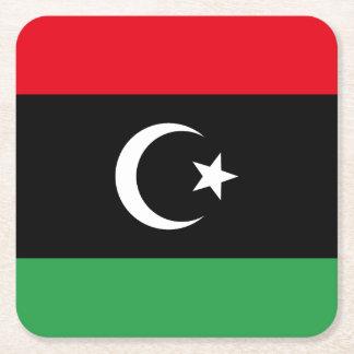 Porta-copo De Papel Quadrado Bandeira de Líbia