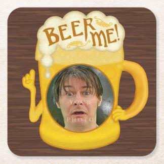 Porta-copo De Papel Quadrado Cerveja engraçada mim foto personalizada | do