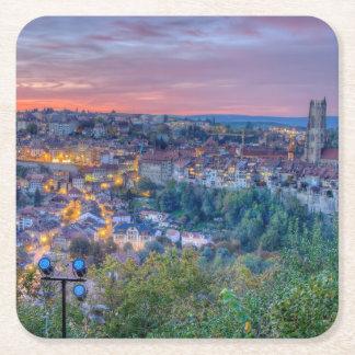 Porta-copo De Papel Quadrado Cidade de Fribourg, suiça