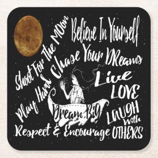 Porta-copo De Papel Quadrado citações inspiradas da porta copos do partido da