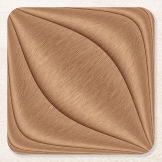 Porta-copo De Papel Quadrado Contorno de cobre