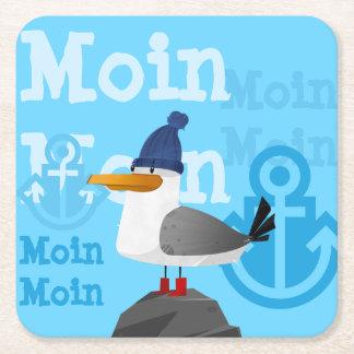 """Porta-copo De Papel Quadrado De """"gaivota Moin Moin"""""""