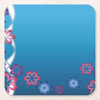 Porta-copo De Papel Quadrado Flores do primavera