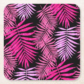 Porta-copo De Papel Quadrado Folha adolescente da palmeira do brilho do falso