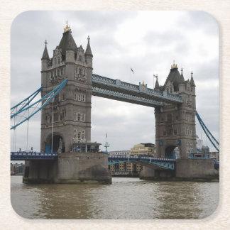 Porta-copo De Papel Quadrado Grupo da porta copos do papel da ponte da torre