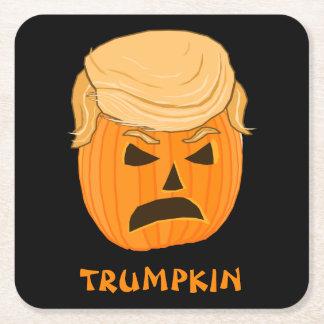 Porta-copo De Papel Quadrado Ilustração engraçada de Donald Trump Trumpkin