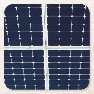 Porta-copo De Papel Quadrado Imagem de um painel de energias solares engraçado
