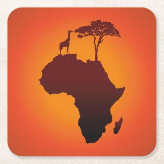 Porta-copo De Papel Quadrado Mapa africano do safari - porta copos de papel