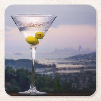 Porta-copo De Papel Quadrado Martini & San Francisco
