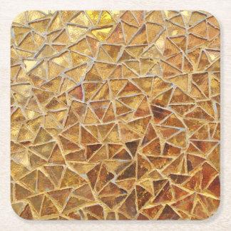 Porta-copo De Papel Quadrado Mosaico do ouro