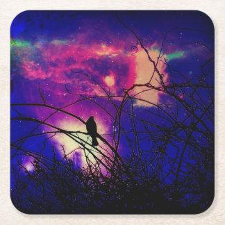 Porta-copo De Papel Quadrado Porta copos celestial do corvo
