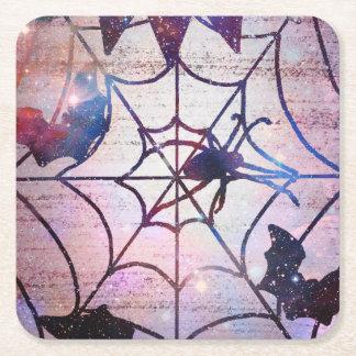 Porta-copo De Papel Quadrado Porta copos Sparkly da Web de aranha