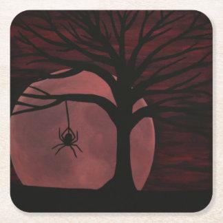 Porta-copo De Papel Quadrado Portas copos assustadores da aranha
