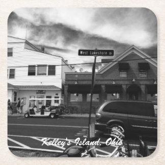 Porta-copo De Papel Quadrado Portas copos da foto da rua da ilha de Kelley,