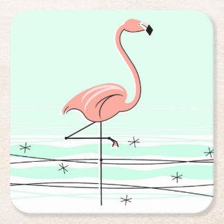 Porta-copo De Papel Quadrado Portas copos do Aqua do flamingo